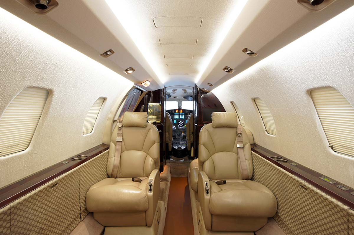 Skyservice Charter Fleet Mid-Sized Jet  Citation Excel Interior 1