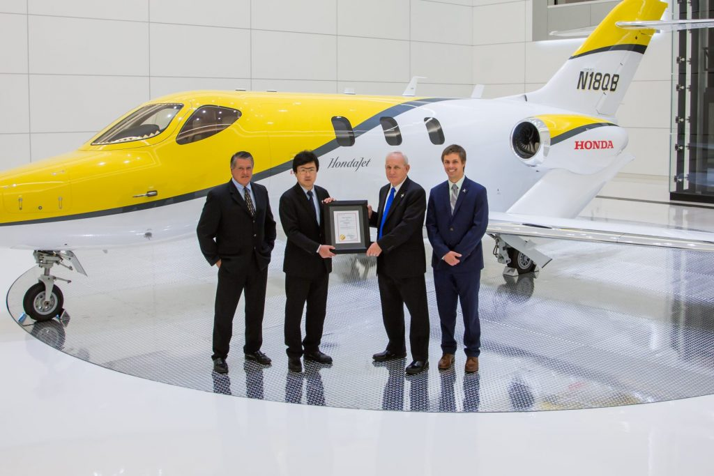 Honda Aircraft Company announced today that the HondaJet, the world's most advanced light jet, received its type certificate from Transport Canada on June 1, 2017.