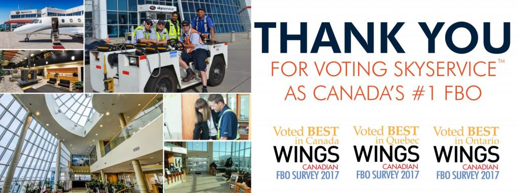 Wings 2017 FBO Survey – The Votes Are In…. And Skyservice Says THANK YOU!