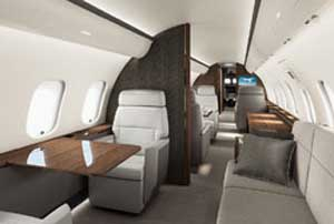Skyservice Challenger 650 Interior - clean air solutions