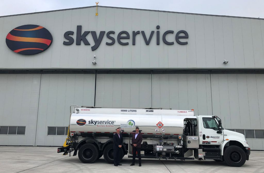 Skyservice Blog Sustainable Aviation Fuel Truck